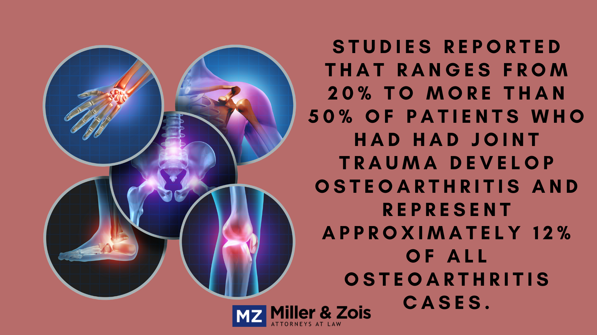 arthritis accident settlement