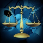 Scales of Justice with sports