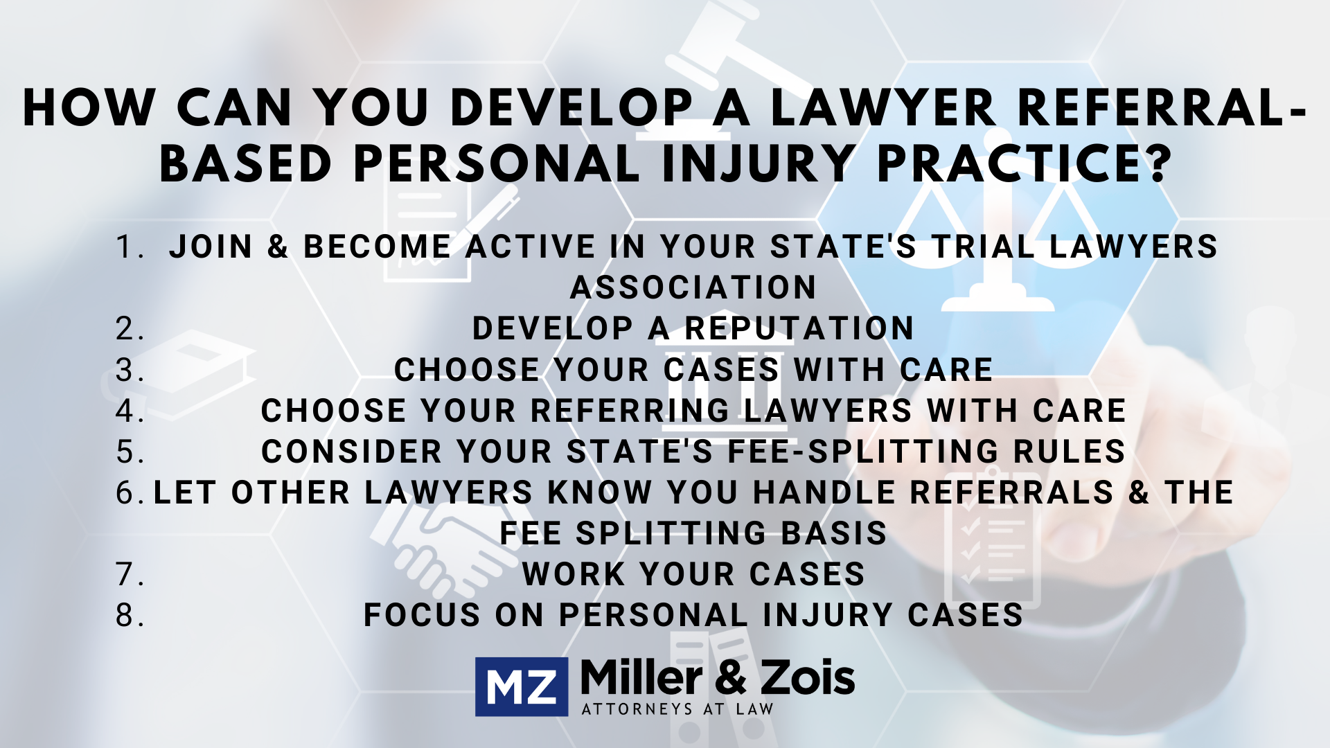 Lawyer personal injury referrals