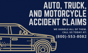 Picture about auto, truck, and motorcycle accident claims
